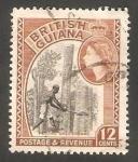 Sellos del Mundo : America : Guyana : 192 - Elizabeth II, y talando árbol