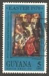 Sellos del Mundo : America : Guyana :  353 - Páscua, Pintura de Rubens
