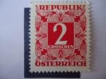 Stamps Austria -  Republik Osterreich - 2 Croschen.