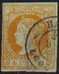 Stamps Europe - Spain -  ESPAÑA 1860-1 52 Sello Isabel II 6c Usado
