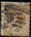 Stamps Spain -  ESPAÑA 1867 96 Sello Isabel II 50m Usado