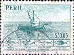 Stamps : America : Peru :  Intercambio 0,20 usd 5 cent. 1952