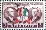 Stamps : America : Peru :  Intercambio 0,20 usd 3 soles 1962