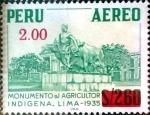 Stamps : America : Peru :  Intercambio 0,20 usd 2 sobre 2,6 soles 1977