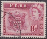 Stamps Oceania - Fiji -  Escudo de armas