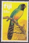 Stamps Oceania - Fiji -  Loro