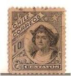 Sellos del Mundo : America : Chile : Colon / NUEVO DISEÑO - SERIE DEL PESO BRONCE