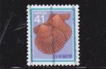 Stamps Japan -  moluscos de mar