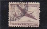 Stamps Uruguay -  avión