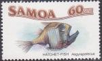 Stamps Oceania - Samoa -  Pez Hacha