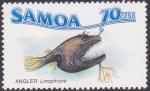Stamps Oceania - Samoa -  Angler