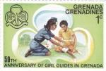 Sellos de America - Granada -  50 aniversario de mujeres guias en Grenada