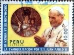 Stamps : America : Peru :  Intercambio dmg 0,50 usd 10 intis 1988