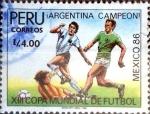 Sellos del Mundo : America : Perú : Intercambio 0,35 usd 4 intis 1987