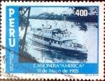 Stamps : America : Peru :  Intercambio 0,80 usd 400 soles 1984