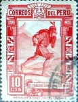 Stamps : America : Peru :  Intercambio 0,20 usd 10 cent. 1936
