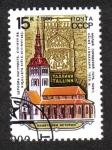 Sellos del Mundo : Europa : Rusia :  Iglesia y el tallado de armas de la ciudad de San Nicolás