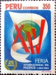 Sellos del Mundo : America : Perú : Intercambio 0,75 usd 350 soles 1973