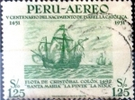 Stamps Peru -  Intercambio cxrf 0,20 usd 1,25 soles 1953
