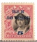Stamps Chile -  Colon / ISLAS DE JUAN FERNANDEZ