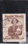 Stamps Austria -  traje regional austriaco