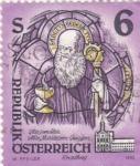 Sellos de Europa - Austria -  abadia y monasterio de Nursie