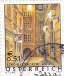 Stamps Austria -  calles de Viena