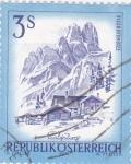 Sellos del Mundo : Europa : Austria : paisaje alpino en Salgburg