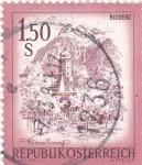Stamps Austria -  panorámica de bludenz