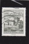 Stamps Austria -  castillo de Schatterburg