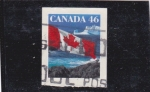 Stamps : America : Canada :  bandera canadiense