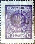 Stamps : Europe : Poland :  Intercambio 0,25 usd 30 g. 1924