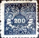 Stamps : Europe : Poland :  200 f. 1920