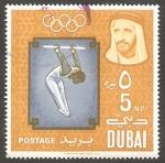 Sellos de Asia - Emiratos Árabes Unidos -  Dubai - 47 - Olimpiadas de Tokyo, Gimnasia