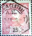 Stamps : Europe : Portugal :  Intercambio 0,20 usd 25 r. 1899