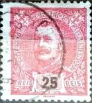 Stamps Portugal -  Intercambio 0,20 usd 25 r. 1899