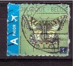 Stamps Belgium -  mariposa