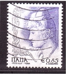 Stamps of the world : Italy :  la mujer en el arte