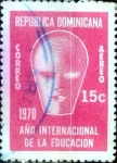 Sellos de America - Rep Dominicana -  Intercambio 0,25 usd 15 cent. 1970