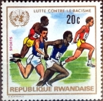 Stamps : Africa : Rwanda :  Intercambio 0,20 usd 20 cent. 1972