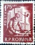 Sellos de Europa - Rumania -  Intercambio 0,20 usd 1,75 l. 1960