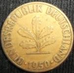monedas de Europa - Alemania -  1950 (Anverso)