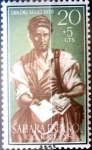 Stamps Spain -  Intercambio jxi 0,20 usd 20 + 5 cent. 1959
