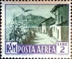 Stamps : Europe : San_Marino :  Intercambio 0,35 usd 2 l. 1950