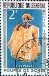 Stamps : Africa : Senegal :  Intercambio 0,20 usd 2 f. 1966