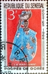 Stamps : Africa : Senegal :  Intercambio 0,20 usd 3 f. 1966