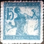 Stamps : Europe : Yugoslavia :  Intercambio 0,20 usd 15 f. 1919
