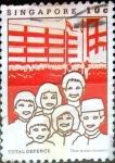 Stamps Singapore -  Intercambio 0,20 usd 10 cent. 1984