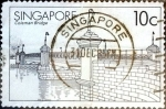 Sellos del Mundo : Asia : Singapur : Intercambio 0,20 usd 10 cent. 1985