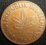 monedas de Europa - Alemania -  1963 (Anverso)